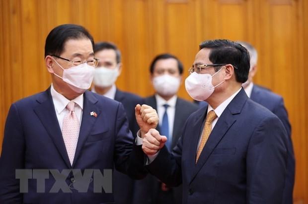 Cooperacion antiepidemica impulsara relaciones Vietnam-Corea del Sur hinh anh 1