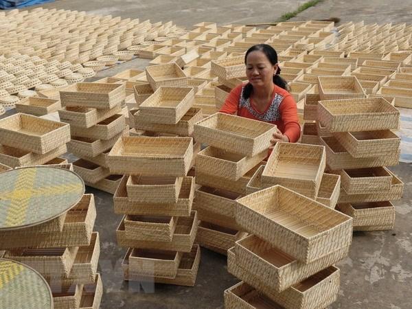 Vietnam reporta alza en exportaciones de ratan, bambu, juncia y alfombra hinh anh 1