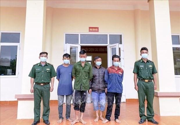 Detienen a cuatro personas en Vietnam por cruzar ilegalmente la frontera hinh anh 1