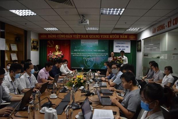 Vietnam participa en ejercicio de ciberseguridad ASEAN-Japon hinh anh 1