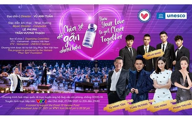 Efectuaran concierto internacional virtual en apoyo al Fondo de Vacunas de Vietnam hinh anh 1
