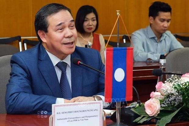 Resaltan significado de visita a Vietnam del maximo dirigente de Laos hinh anh 1