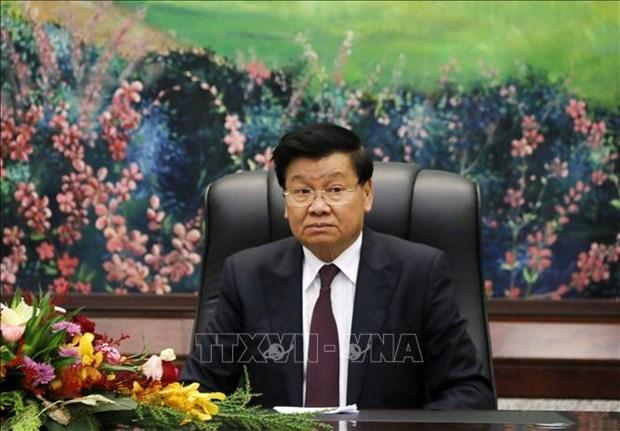 Visita del maximo dirigente de Laos a Vietnam consolidara los vinculos bilaterales hinh anh 1