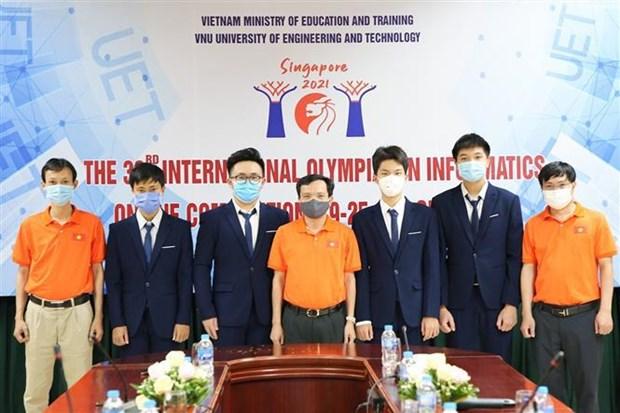 Conquista Vietnam cuatro medallas de plata en Olimpiada Internacional de informatica hinh anh 1