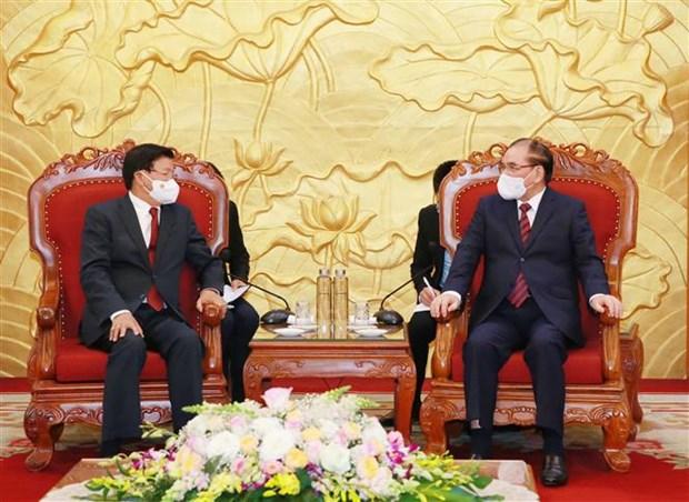 Estrechan nexos amistosos entre Vietnam y Laos hinh anh 1