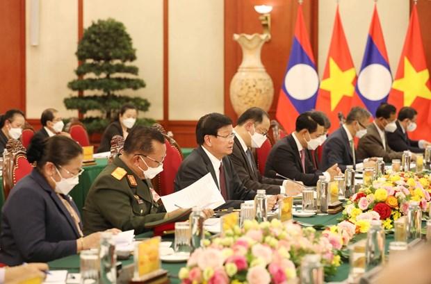 Ratifican compromiso de enriquecer relaciones especiales Vietnam-Laos hinh anh 2