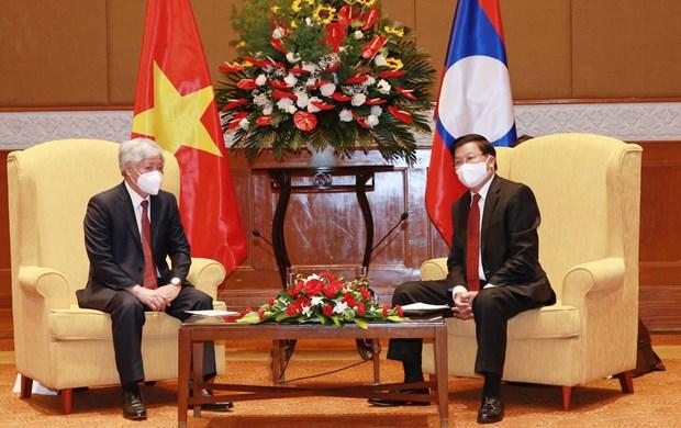 Destaca dirigente laosiano relaciones con Vietnam hinh anh 1