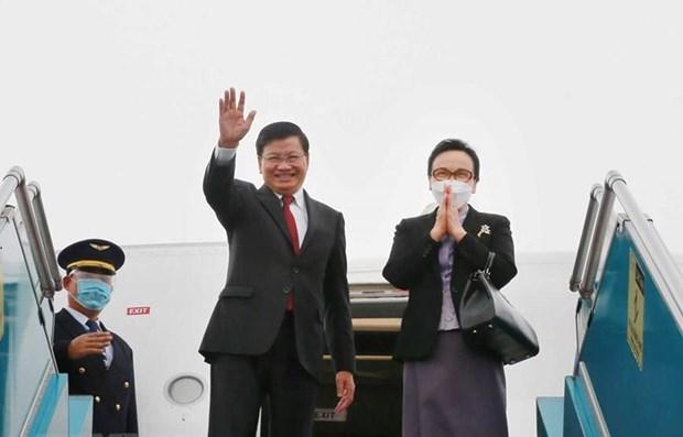 Concluye maximo dirigente laosiano visita oficial a Vietnam hinh anh 1