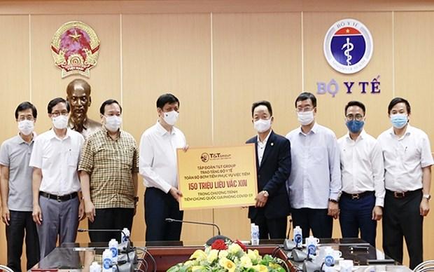 Empresa vietnamita dona jeringas y agujas para campana de vacunacion en el pais hinh anh 1