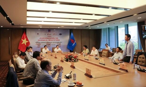PVN recibe primer flujo de gas del campo Su Tu Trang en fase 2A hinh anh 1