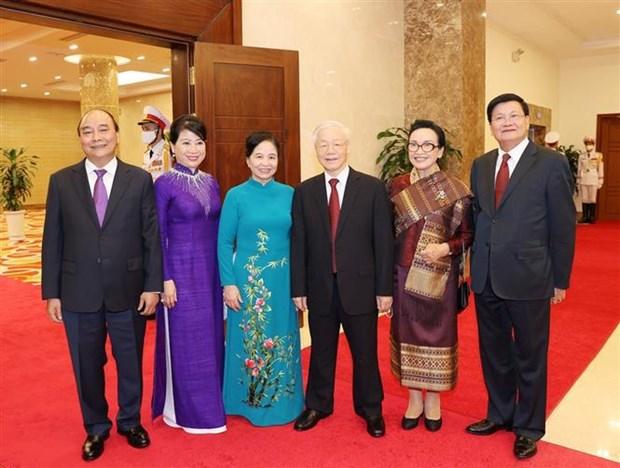 Visita del maximo dirigente de Laos a Vietnam: hito historico para ambos pueblos hinh anh 4