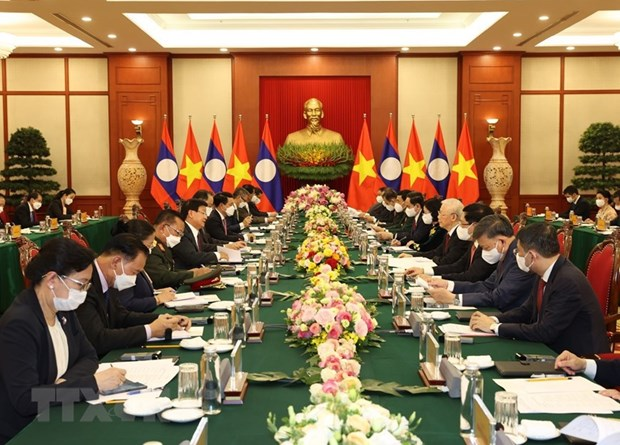 Visita del maximo dirigente de Laos a Vietnam: hito historico para ambos pueblos hinh anh 3