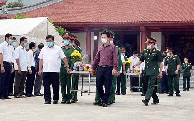 Rinden en provincia vietnamita tributo a heroes y martires hinh anh 1