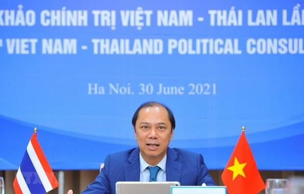 Vietnam y Tailandia realizan octava consulta politica a nivel de vicecanciller hinh anh 1