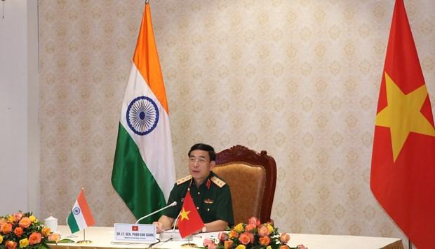 Ministro de Defensa de Vietnam conversa con su homologo indio hinh anh 1
