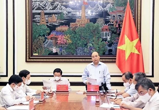 Presidente de Vietnam preside sesion de trabajo sobre construccion del estado de derecho hinh anh 1