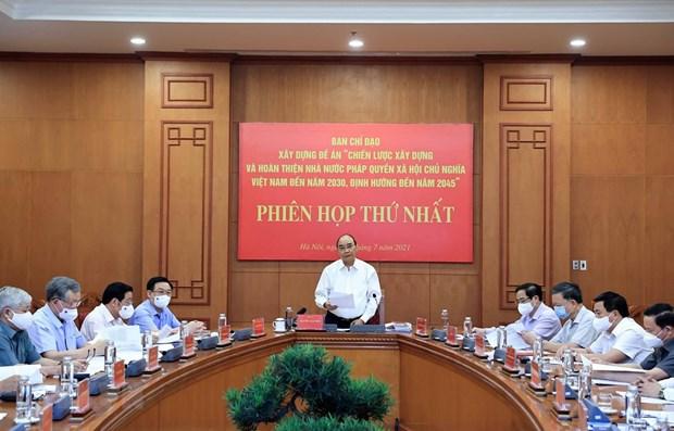 Impulsa Vietnam construccion de Estado de derecho socialista hinh anh 1