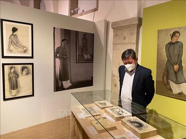 Inauguran exposicion del pintor vietnamita Mai Trung Thu en Francia hinh anh 2