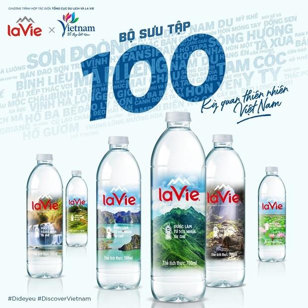 Presentan 100 maravillas naturales de Vietnam en botellas de agua La Vie hinh anh 1