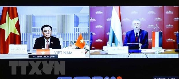 Dirigentes parlamentarios de Vietnam y Hungria sostienen conversaciones hinh anh 1