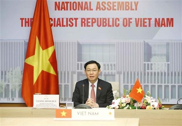 Dirigentes parlamentarios de Vietnam y Hungria sostienen conversaciones hinh anh 2