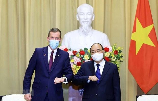Presidente de Vietnam aboga por intensificar cooperacion con Australia hinh anh 1