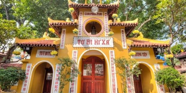 Comunidad budista en Vietnam cumple las medidas preventivas del COVID-19 hinh anh 1