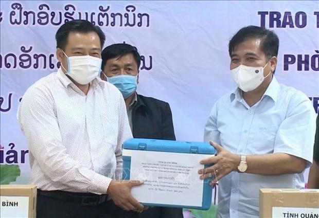 Provincia vietnamita ayuda a Laos en proteccion de ganado hinh anh 1