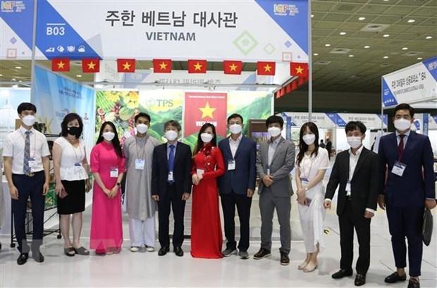 Promocionan productos agricolas vietnamitas en feria sudcoreana hinh anh 1