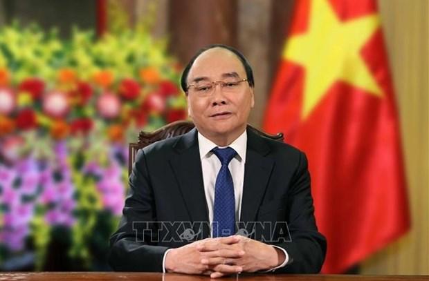 Presidente vietnamita felicita a Japon por los Juegos Olimpicos y Paralimpicos de Tokio 2020 hinh anh 1