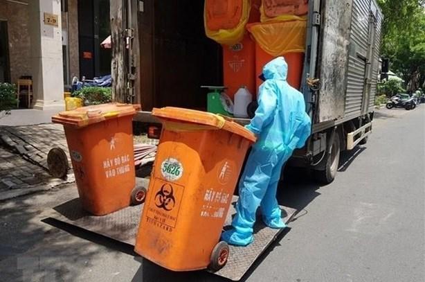 Localidades vietnamitas por manejar residuos generados por el COVID-19 hinh anh 1