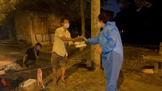 Efectuan programa de apoyo a los necesitados en Hanoi en contexto del COVID-19 hinh anh 1