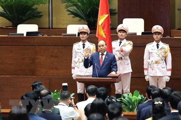 Felicitan Laos y China a reelegidos dirigentes vietnamitas hinh anh 1