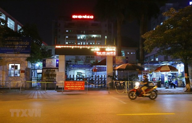 Hospital de Neumologia de Hanoi suspende actividades tras detectar nueve casos de COVID-19 hinh anh 1