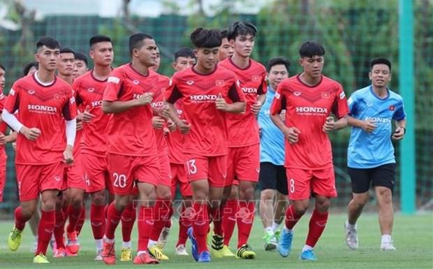 Futbolistas vietnamitas se concentran para el Campeonato de Asia sub-23 hinh anh 1