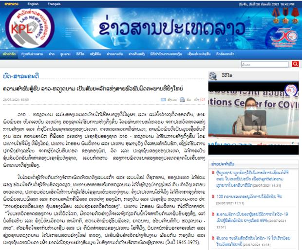 Resalta prensa laosiana nexos de amistad y solidaridad especial entre Vietnam y Laos hinh anh 1