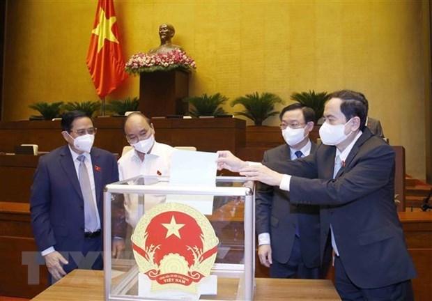 Parlamento vietnamita aprueba designacion de jueces del Tribunal Supremo Popular hinh anh 1