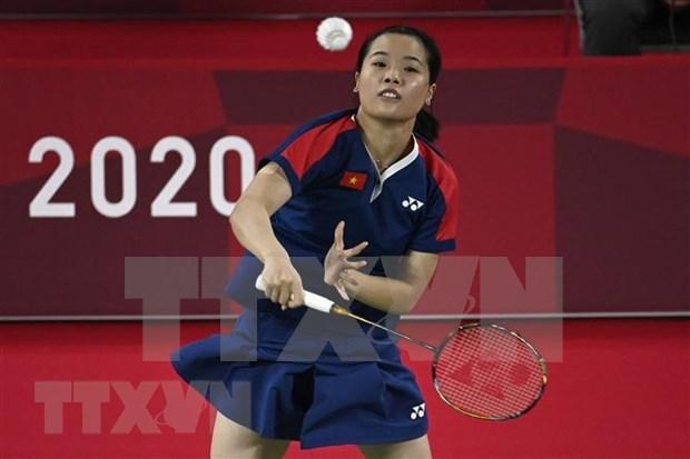 Tokio 2020: Destacada actuacion de badmintonista vietnamita Nguyen Thuy Linh hinh anh 1