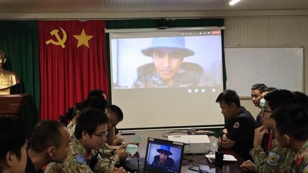 Hospitales de campana vietnamita e indio cooperan en capacitacion personal hinh anh 1