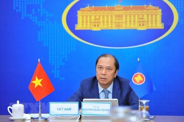 Vietnam participa en reunion preparatoria para Conferencia de Cancilleres de la ASEAN hinh anh 1