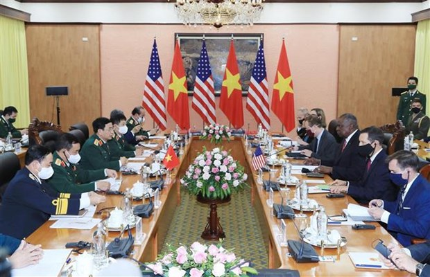 Secretario de Defensa de Estados Unidos realiza visita a Vietnam hinh anh 2