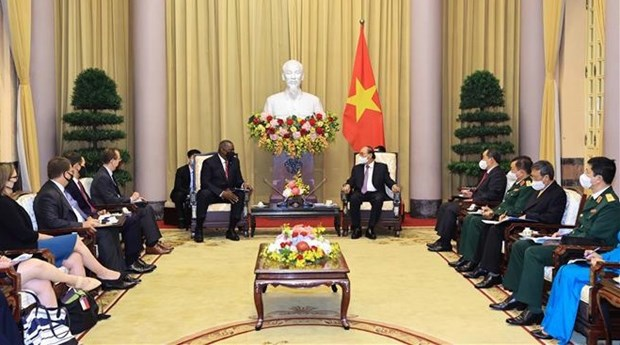 Presidente de Vietnam recibe al secretario de Defensa de Estados Unidos hinh anh 2