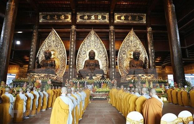 Pagoda Tam Chuc, una joya de la arquitectura vietnamita hinh anh 1