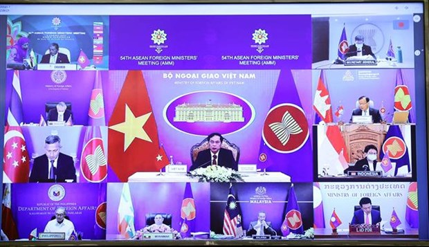 Participa Vietnam en 54ª Reunion de Cancilleres de la ASEAN hinh anh 2