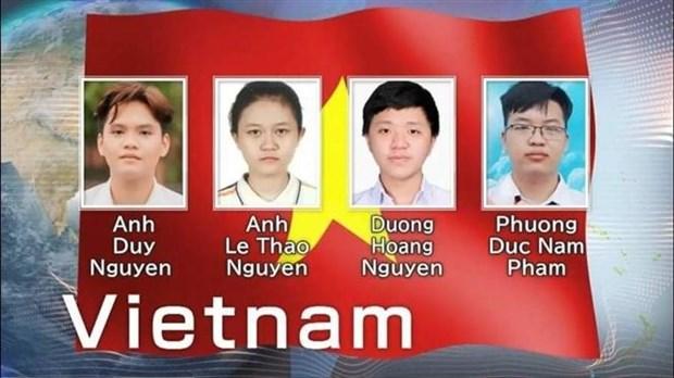 Vietnam gana tres medallas de oro en Olimpiada Internacional de Quimica hinh anh 1