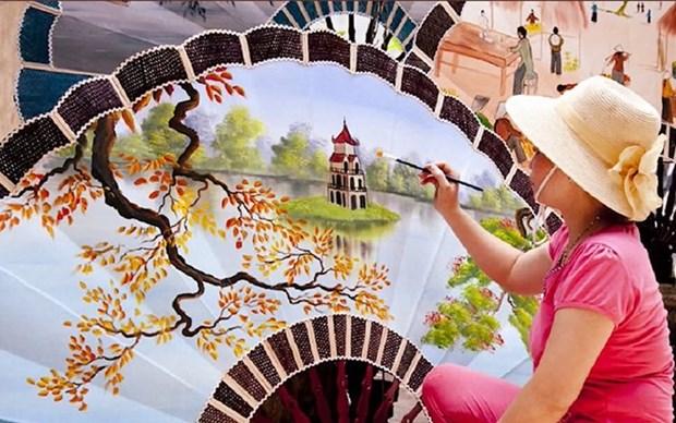 Concluye concurso para resaltar belleza de mujer vietnamita en trabajo artesanal hinh anh 1