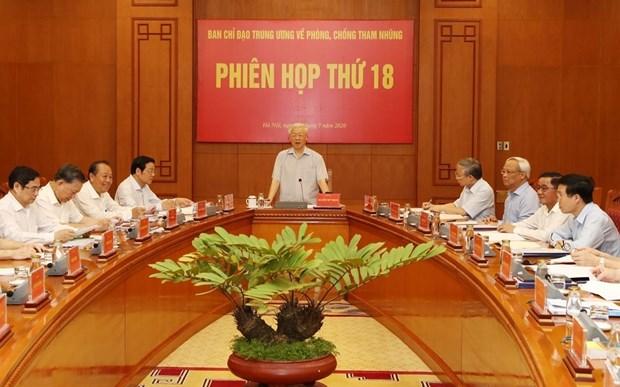 Sesionara manana el Comite Directivo Central para lucha contra la Corrupcion en Vietnam hinh anh 1