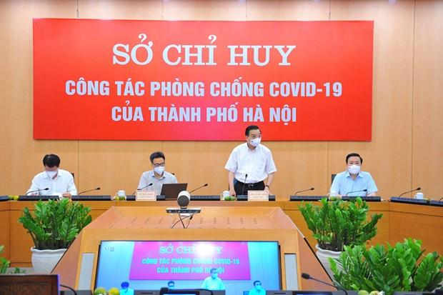 Inspeccionan labores preventivas contra el COVID-19 en Hanoi hinh anh 2
