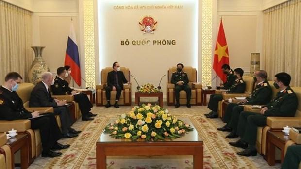 Ministro de Defensa de Vietnam recibe al embajador de Rusia hinh anh 1