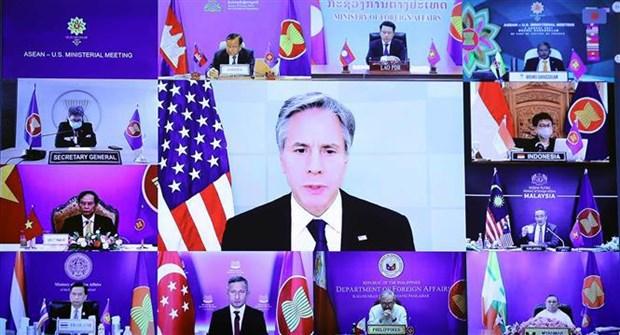 ASEAN y Estados Unidos priorizan respuesta al COVID-19 y recuperacion sostenible hinh anh 1